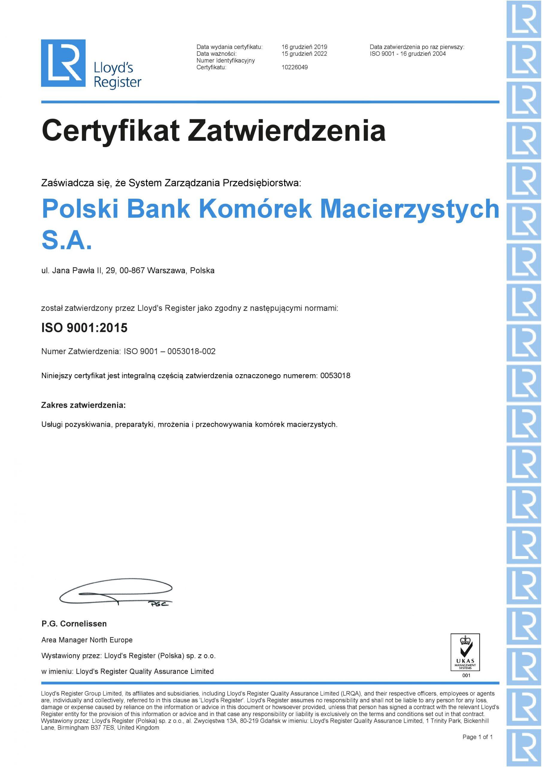 ISO 9001:2000 e 13485:2003